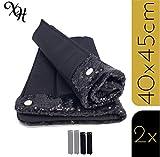 X-traordinary Horsewear - 2er Set handgefertigte Premium Bandagierunterlagen Black Soul mit...