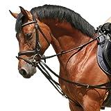PFIFF Dreieckszügel, deutsche Qualität, schwarz, Warmblut/Full, 004527-60-Full