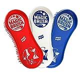 MagicBrush Pferdebürstenset 3er Bürsten-Set   Fellpflege Beinpflege Hufpflege Pferd (Union Jack)