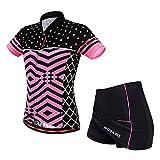 Damen Trikots Mountainbike-Reitrock-Set Kurzarmshirts Röcke Atmungsaktive Silikonmatte Shorts mit...