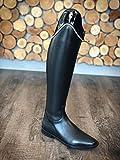 Cavallo Reitstiefel 5 1/2 H50 W35 Dressurstiefel Insignis Slim schwarz, Stulpe Lack mit Perlen