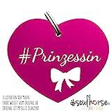 Soulhorse Prinzessin pink mit Schleife Kleiner Glücksbringer Marke Anhänger für Pferdezubehör...
