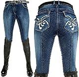 HKM Erwachsene Reithose -Pasadena-Summer Denim Silikon-Vollbesatz6100 jeansblau48 Hose, 6100...