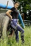 Tysons Breeches Jeans Reithose Reiterhose Jeansreithose Salina Silicon Grip Vollbesatz + Stick +...