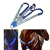 Kenyaw LED Pferdegeschirr,Pferdegeschirr Pferde Brustgurt Robuste und Komfortable...