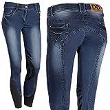Harry´s Horse Reithose Dirty Denim Grip Silikon Kniebesatz, Farbe:blau, Größe:D36