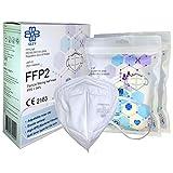 FFP2 Atemschutzmaske - Schachtel à 10 Stück CE-Zertifiziert mit verstellbarem Gummiband und...
