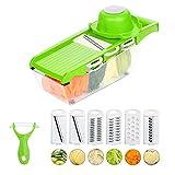 Jazz Pose 6 in 1 Gemüsehobel, Küchenreibe mit Container und Schäler für Salat Gemüse,...