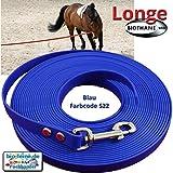 Longe Longierleine für Pferde 16mm aus Beta BioThane®, Pferdelonge für Reitsport, 8 Meter lang in...