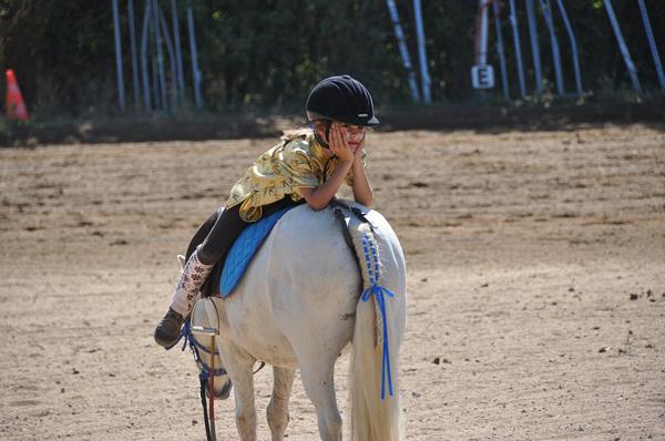 Kind auf Pferd