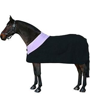 Pfiff Abschwitzdecke schwarz aus Fleece