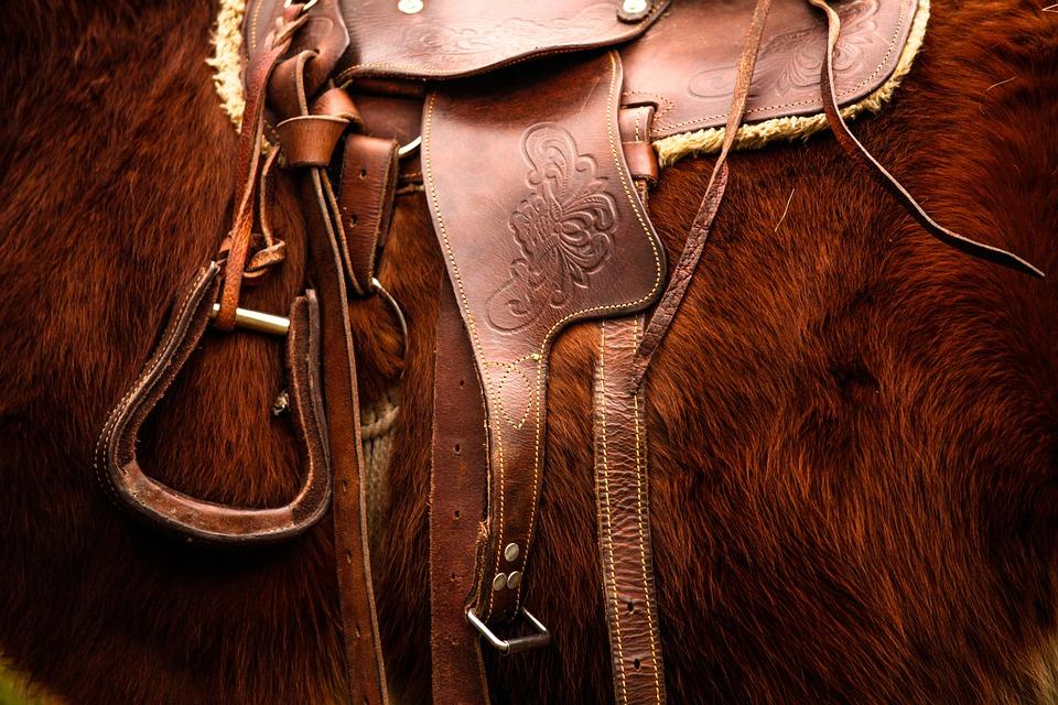 Reitersattel aus Leder